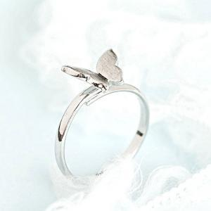 Silver Butterfly Ring, Tiny Wings A..